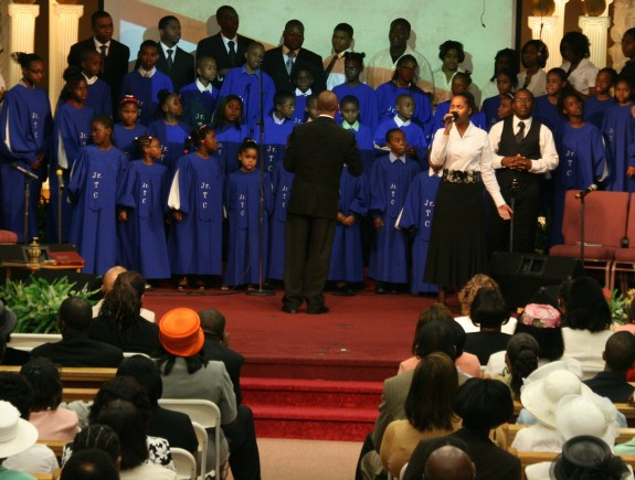 The Junior Tabernacle choir ministers