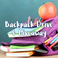 Backpack Drive & Giveaway