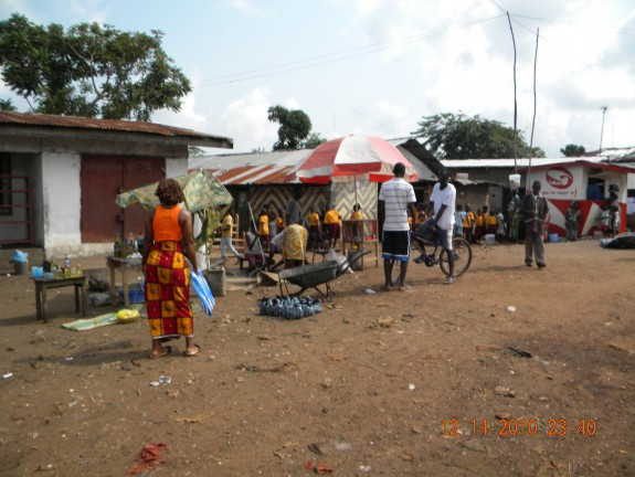 A typical Liberian village