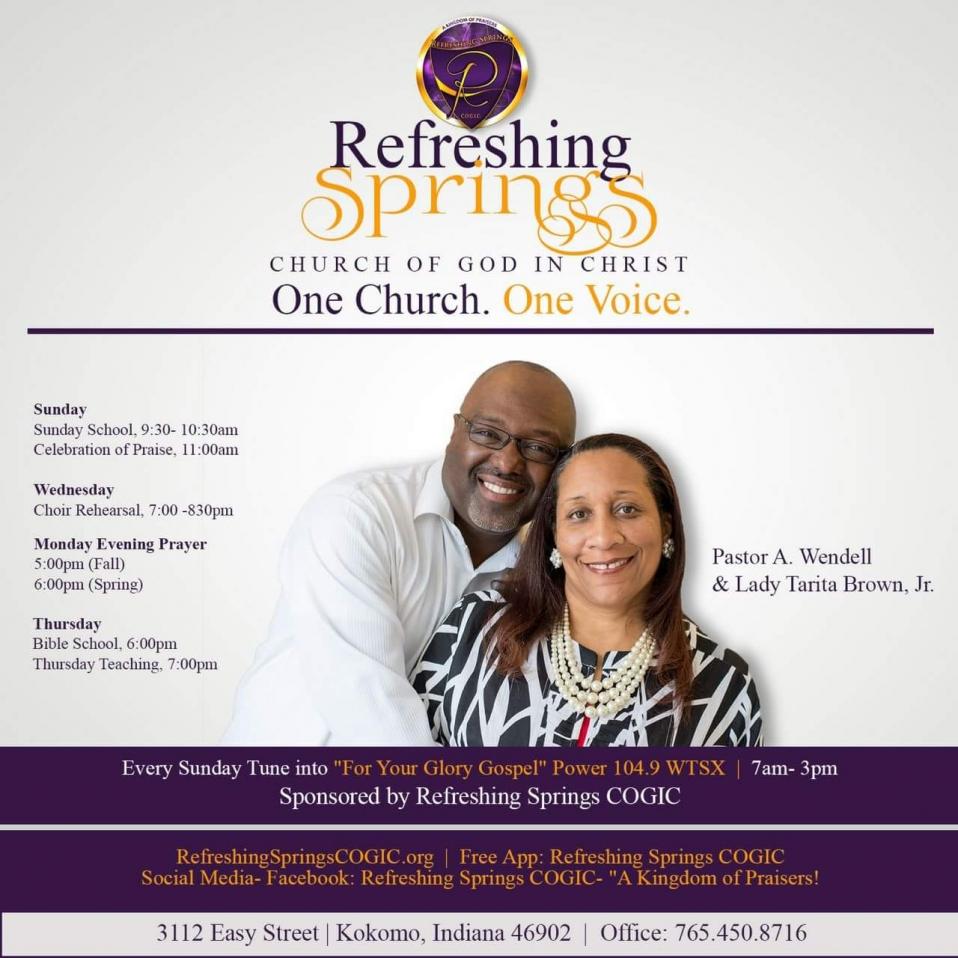 Refreshing Springs COGIC - A Kingdom of Praiser's - One Church ~ One