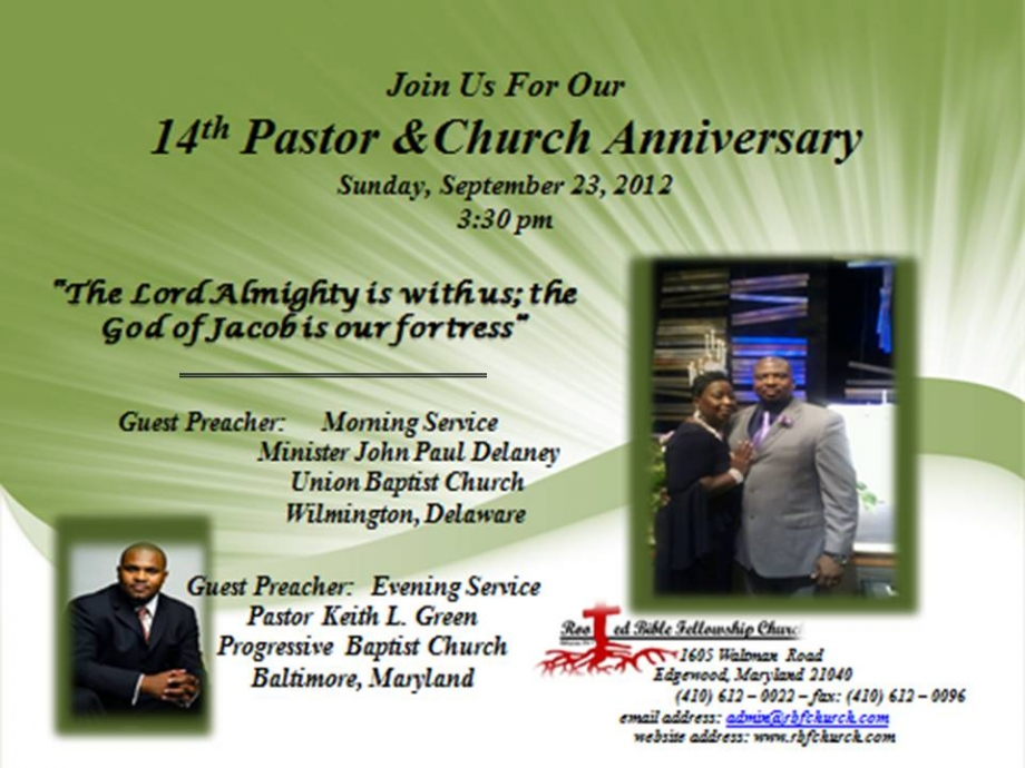 Programs for Pastor Anniversary Appreciation | just b.CAUSE