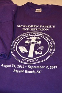 Gildan Ultra Cotton T Shirts The Most Popular Shirt In USA Personalized With 2012 McFadden Family Reunion Information And Logo