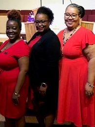Brigette Hart-Sams (center), Patricia Carter(right), Jessica Simmons (left)